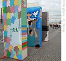Berlin Wall dominoes